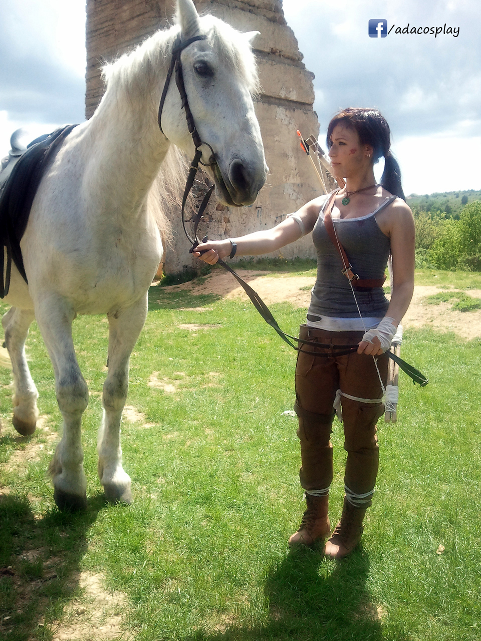 lara with a horse